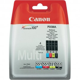 Canon CLI-551 kartuše original   Canon 6509B009 (C,M,Y,K) 4 v paketu